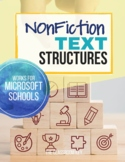 Nonfiction Text Structures Unit with Digital Learning Options