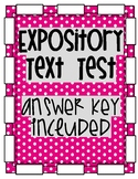 Expository Text Test