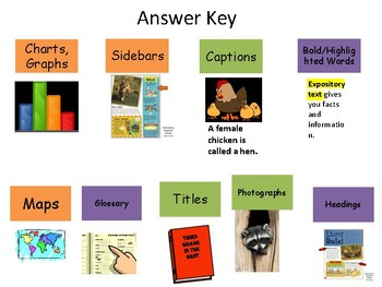 Expository Text – Text Features File Folder Game