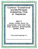 Expository Transitional Phrases/Words Indicating Time or Sequence Wrkbk and Test