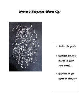 Expository Warm Up & Prompt