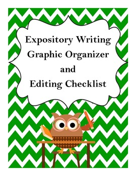 Expository Writing Graphic Organizer and Editing Checklist - Common Core Aligned