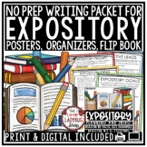 Expository Writing Unit Bundle [Posters, Prompts, Flip Boo
