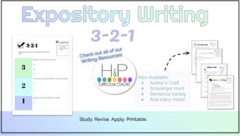 Expository Writing: 3-2-1 Student Response
