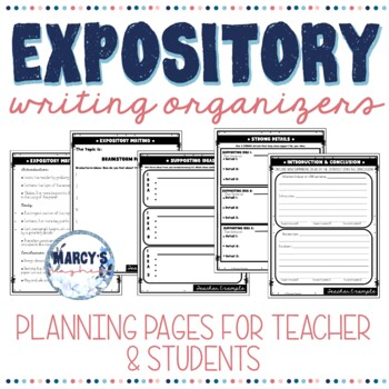 Expository Writing 4th, 5th & 6th grade graphic organizers