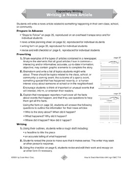 Expository Writing: A News Article