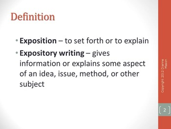 Expository Writing: An Overview