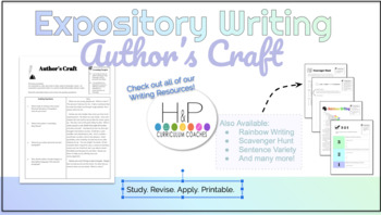 Expository Writing: Author's Craft