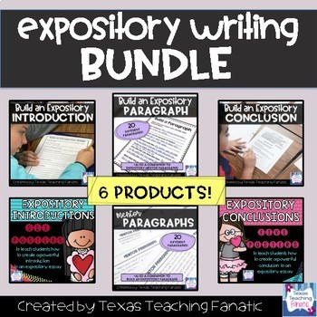 Expository Writing BUNDLE: Introductions, Body Paragraphs, and Conclusions