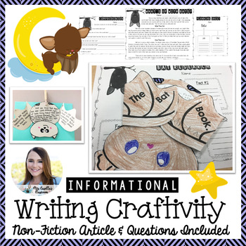 Expository Writing Craftivity Bat with Non-Fiction Comprehension Passage