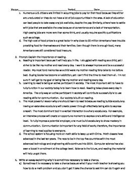 Expository Writing - Body Paragraphs - Development