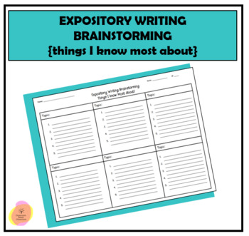 Expository Writing Brainstorming