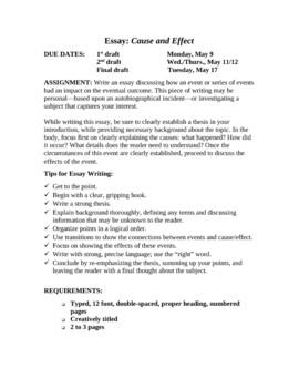 cause and effect essay teaching resources teachers pay teachers  expository writing cause effect essay unit rubric