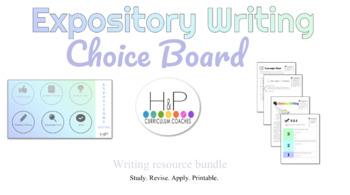 Expository Writing Choice Board Printable Bundle