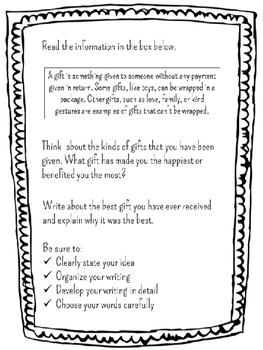 Expository Writing Christmas Gift Craftivity