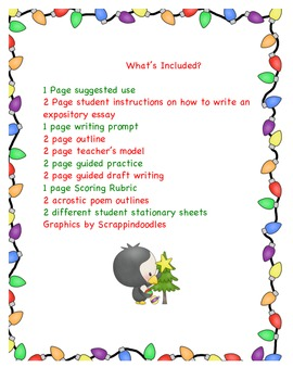Expository Writing Christmas Vacation Theme