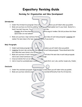 Expository Writing Complete Writing Process Unit and Rubric