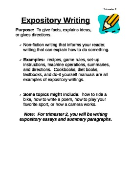 Expository Writing Description for Students~KID FRIENDLY!