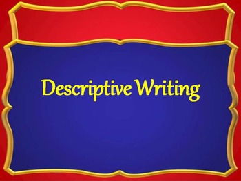 Expository Writing Descriptive PowerPoint and ISN Graphic