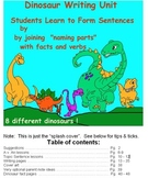 Expository Writing Dinosaurs-make new sentences+Topic Sentence Unit