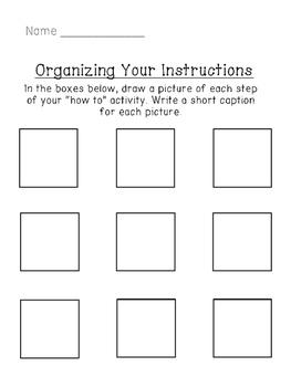 Expository Writing Drawing Organizer