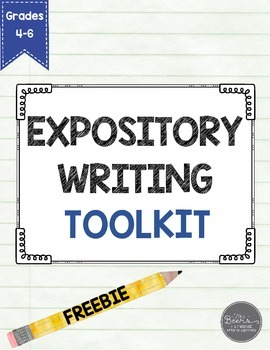Expository Writing FREEBIE for Grades 4-6