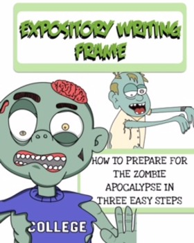 Expository Writing Frame Zombie Theme 5th and 6th grade (V