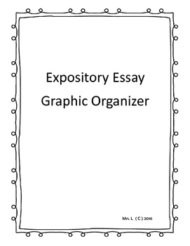 Expository Writing Graphic Organizer