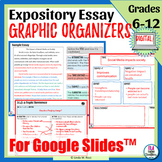 Expository Writing Graphic Organizers   5-Paragraph Essay