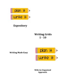Expository Writing Grids 1 - 10