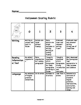 Expository Writing Halloween Theme