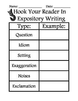 Expository Writing - Hooks