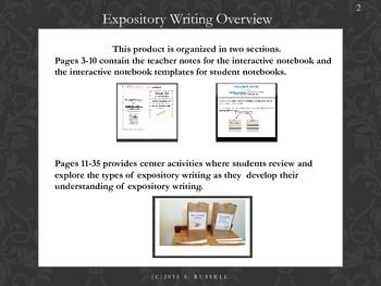 Expository Writing with Informational Text, Interactive Journal and ELA Centers