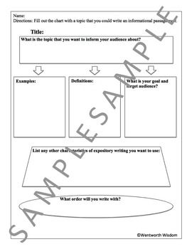 Expository Writing No Prep Lesson Literacy Practice Worksheets & Activities