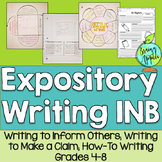 Expository Writing Interactive Notebook for Grades 4-8