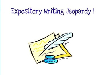 Expository Writing Jeopardy