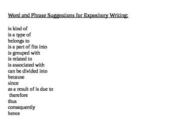 Expository Writing Lesson Plans for Grades 3, 4, & 5 Common Core & GLEs