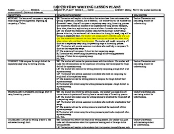 Expository Writing Lesson Plans for Grades 3, 4, & 5 Commo