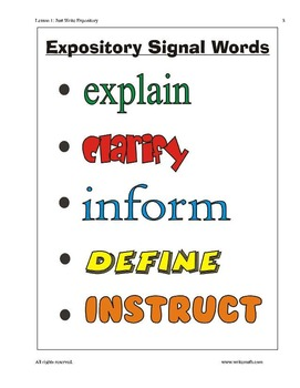 Expository Writing Lessons for 3rd - 6th Grade - Full Week