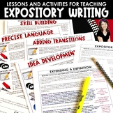 Expository Writing: Lessons & Activities That Teach Students to Inform & Explain