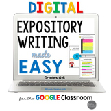 Digital and Printable Expository Writing Made Easy for Grades 4-6