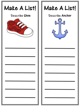 Expository Writing - Make A List (English & French)