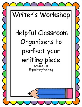 Expository Writing Organizers! Great for Creative writing Gr 2-4 common core