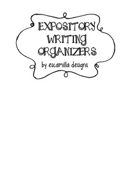 Expository Writing Organizers and Transition Posters