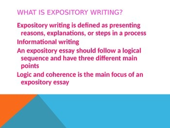 Expository Writing PPT-the How and Why