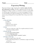 Expository Writing Packet