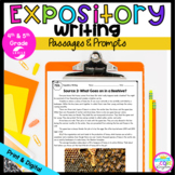 Expository Writing Passages and Prompts with Google Slides Distance Learning
