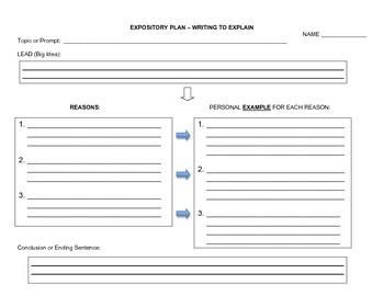 Expository Writing Plan (blank)
