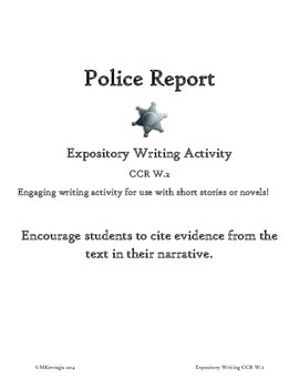 Expository Writing Police Report Activity