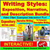 Expository, Narrative, and Descriptive PowerPoint Writing Bundle
